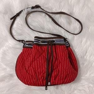Vera Bradley Red Seaport Stripe Bucket Bag
